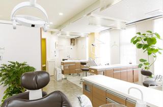 広々と明るい光が差し込む診療室